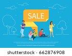 sale pin symbol concept vector... | Shutterstock .eps vector #662876908