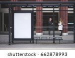 bus station billboard with... | Shutterstock . vector #662878993