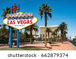 the welcome to fabulous las...   Shutterstock . vector #662879374