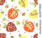 seamless vector hand drawn... | Shutterstock .eps vector #662879800