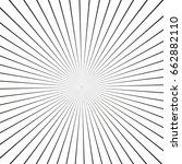 illusion rays. vector...   Shutterstock .eps vector #662882110