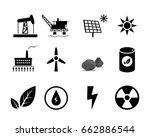 set of electricity generation...   Shutterstock .eps vector #662886544