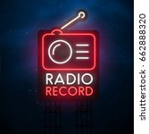 radio record sign. city sign... | Shutterstock .eps vector #662888320