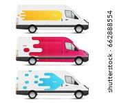 set of branding design... | Shutterstock .eps vector #662888554