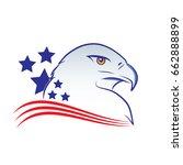 eagle head outline vector... | Shutterstock .eps vector #662888899