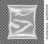 transparent food snack plastic... | Shutterstock .eps vector #662890240