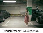 woyoung man's car was stolen ... | Shutterstock . vector #662890756