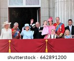 queen elizabeth   royal family  ... | Shutterstock . vector #662891200