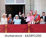 queen elizabeth   royal family  ... | Shutterstock . vector #662891200