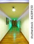 corridor interior with wooden... | Shutterstock . vector #66289150