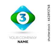 realistic number three vector... | Shutterstock .eps vector #662893768
