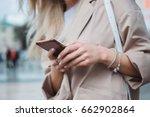 close up of women's hands... | Shutterstock . vector #662902864