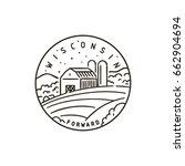 vintage vector round label.... | Shutterstock .eps vector #662904694