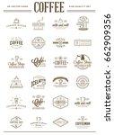 big set of vector coffee... | Shutterstock .eps vector #662909356