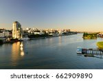 embankment at dusk. view of the ... | Shutterstock . vector #662909890