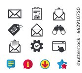 mail envelope icons. message...