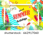 summer. | Shutterstock .eps vector #662917060
