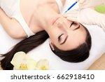 hands of cosmetologist making...   Shutterstock . vector #662918410