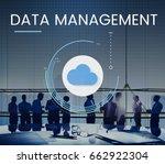 cloud network online storage... | Shutterstock . vector #662922304