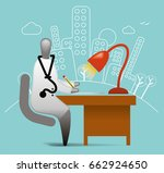 medical practitioner   Shutterstock .eps vector #662924650