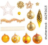 Christmas decoration, isolated on white - stock photo