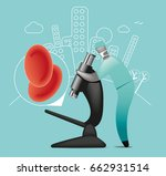 blood diagnosis | Shutterstock .eps vector #662931514