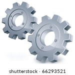 vector gears  isolated object... | Shutterstock .eps vector #66293521