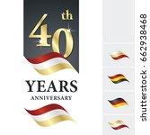 anniversary 40 th years... | Shutterstock .eps vector #662938468