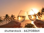 cheers with wine glasses in a... | Shutterstock . vector #662938864