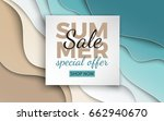 summer sale banner with paper... | Shutterstock .eps vector #662940670