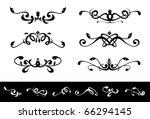 symmetrical floral ornaments | Shutterstock .eps vector #66294145