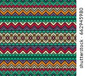 seamless pattern with ethnic... | Shutterstock .eps vector #662945980