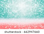 Abstract Teal Green Glitter ...