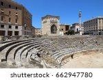 lecce  italy   ancient roman... | Shutterstock . vector #662947780