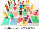 warming up during gymnastic... | Shutterstock . vector #662947960