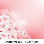 background with roses   Shutterstock . vector #66294889