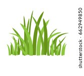 grass icon. silhouette of... | Shutterstock .eps vector #662949850
