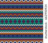 seamless pattern with ethnic... | Shutterstock .eps vector #662950924