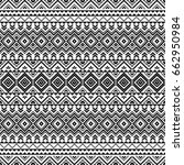 seamless pattern with tribal... | Shutterstock .eps vector #662950984