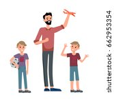 cartoon characters of family.... | Shutterstock .eps vector #662953354