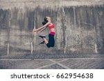 well done  fitness sport woman... | Shutterstock . vector #662954638