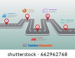 design template  road map... | Shutterstock .eps vector #662962768