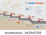 design template  road map...   Shutterstock .eps vector #662962783