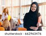 arabian business woman with...   Shutterstock . vector #662963476