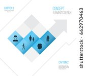 human icons set. collection of... | Shutterstock .eps vector #662970463