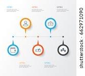 management icons set....   Shutterstock .eps vector #662971090