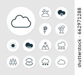 ecology icons set. collection... | Shutterstock .eps vector #662971288