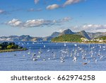 view of guanabara bay and... | Shutterstock . vector #662974258