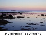 white sea at sunset | Shutterstock . vector #662980543