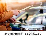 music street performers on... | Shutterstock . vector #662981260